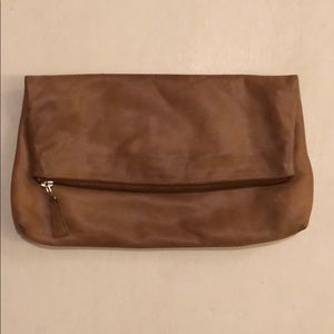 Handbags - Leather Zipper Clutch